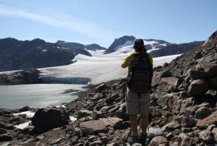 Trekking bajo las auroras boreales y experiencia inuit en la tierra de Tunu. Costa este de Groenlandia