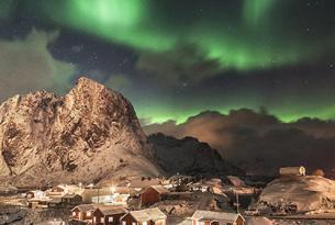 Puente de Diciembre en Noruega: Lofoten, auroras boreales y trineo de perros (aventura confort)