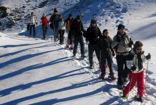 Fin de semana con raquetas de nieve en los valles de Hecho y Ansó.