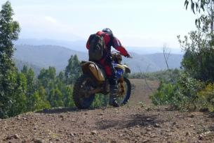 Viaje en moto enduro Girona