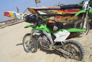 Viaje en moto Enduro Senegal Kawasaki 450R