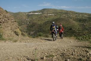 Viaje en moto enduro Grecia, Creta Occidental en moto WR.250R.