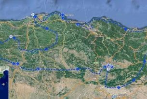 Viaje en moto Norte de España