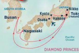 Japón con crucero y guía acompañante.
