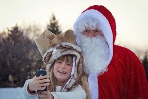 Puente de diciembre en la Laponia finlandesa (Nellim) con actividades, visita de Papá Noel y auroras boreales